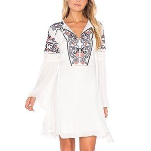 🆕 Parker Embroidered Ivory Dress